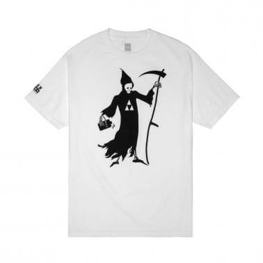 Black Scale Reaper T-shirt - White