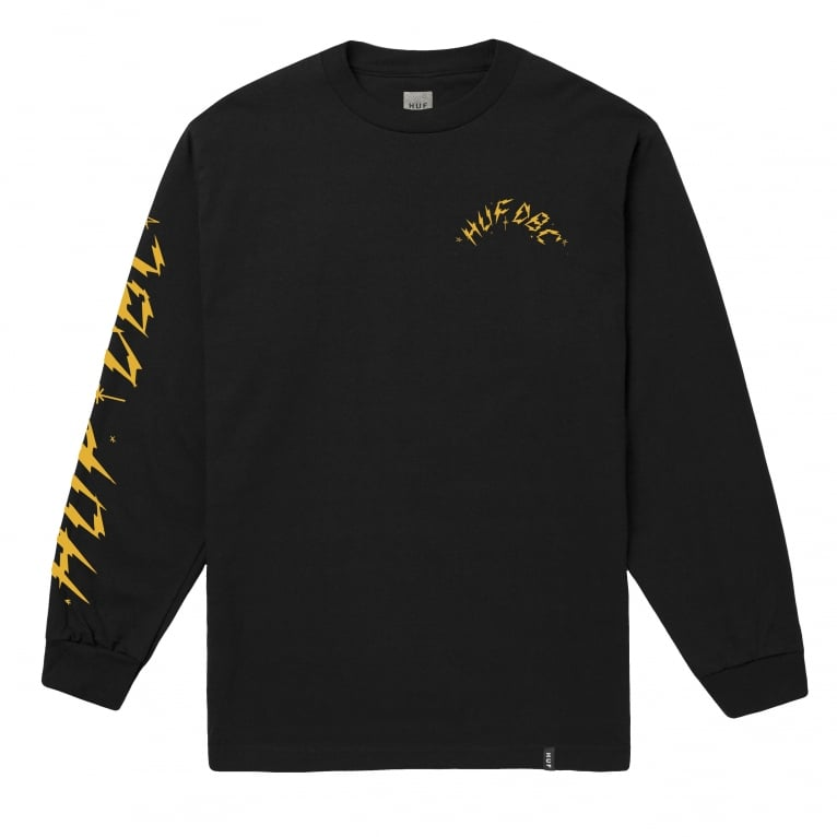 HUF Bolts Long Sleeve T-Shirt - Black