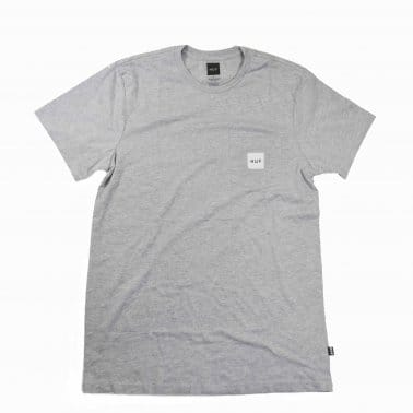 Box Logo Pocket T-shirt - Grey Heather