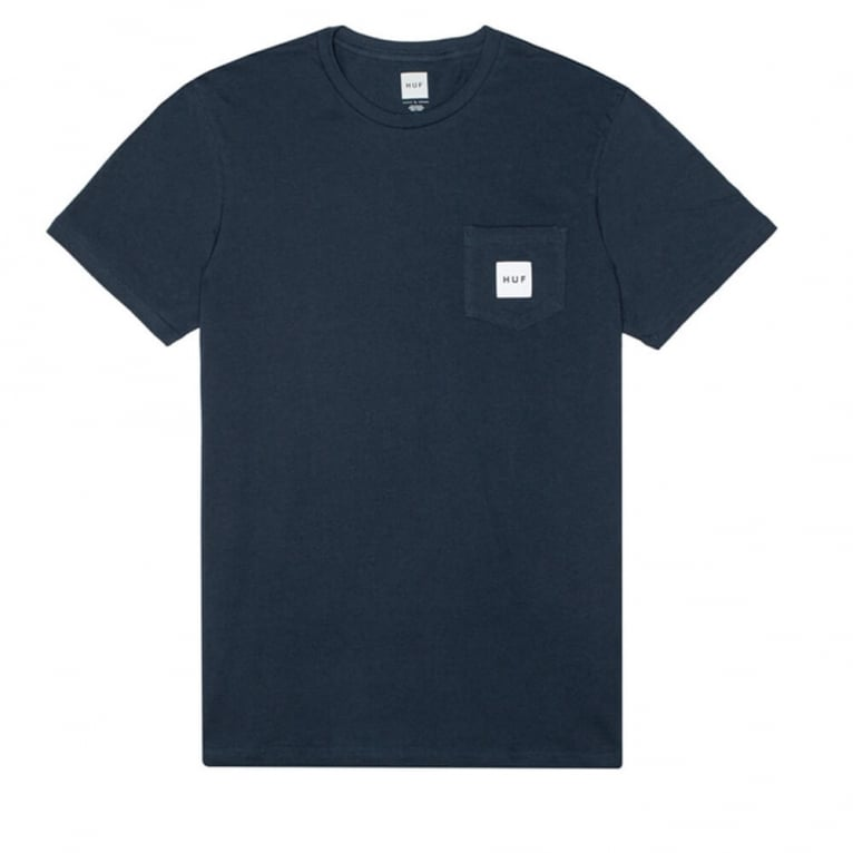 HUF Box Logo Pocket T-shirt - Navy