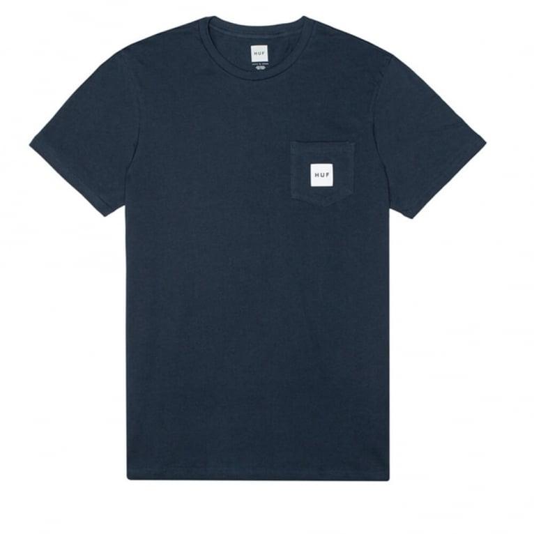 HUF Box Logo Pocket T-shirt - Navy