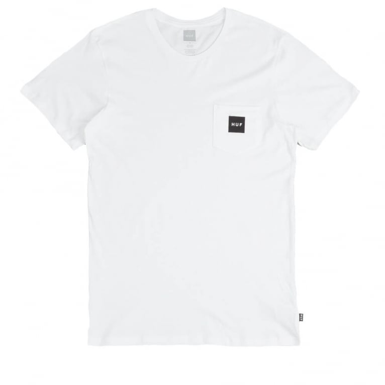 HUF Box Logo Pocket T-shirt - White