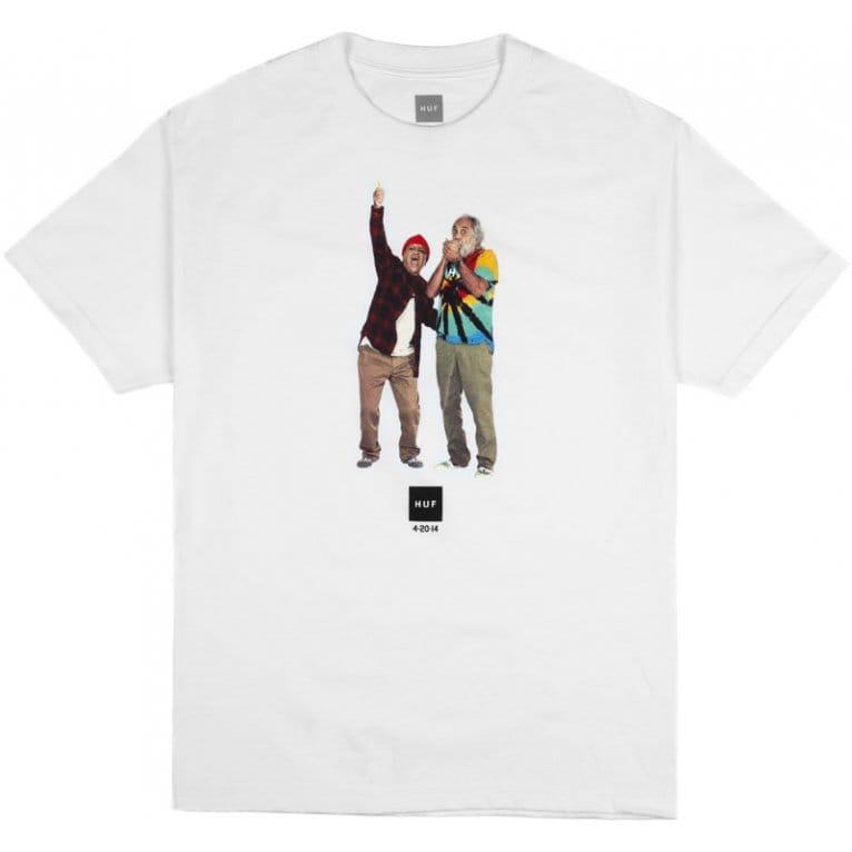 HUF Cheech & Chong 420-2-14 T-shirt - White