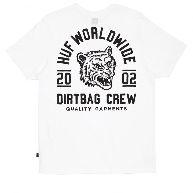 HUF DBC Tiger T-shirt - White