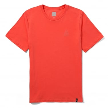 Overdyed Triangle T-Shirt - Red