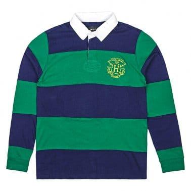 Scholar Long Sleeve Rugby Shirt - Green