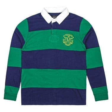 Scholar Long Sleeve Rugby Shirt - Green