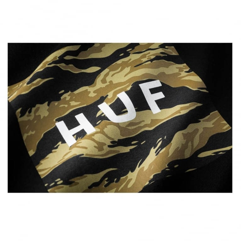 HUF Tiger Camo Box Logo T-shirt - Black