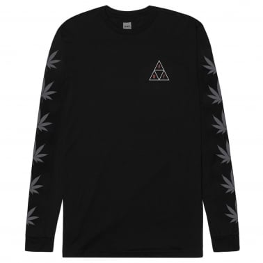 Swords Triangle Long Sleeve Tee - Black