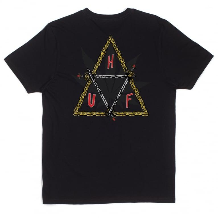 HUF x Ty Dolla $ign Swords Triangle Tee - Black