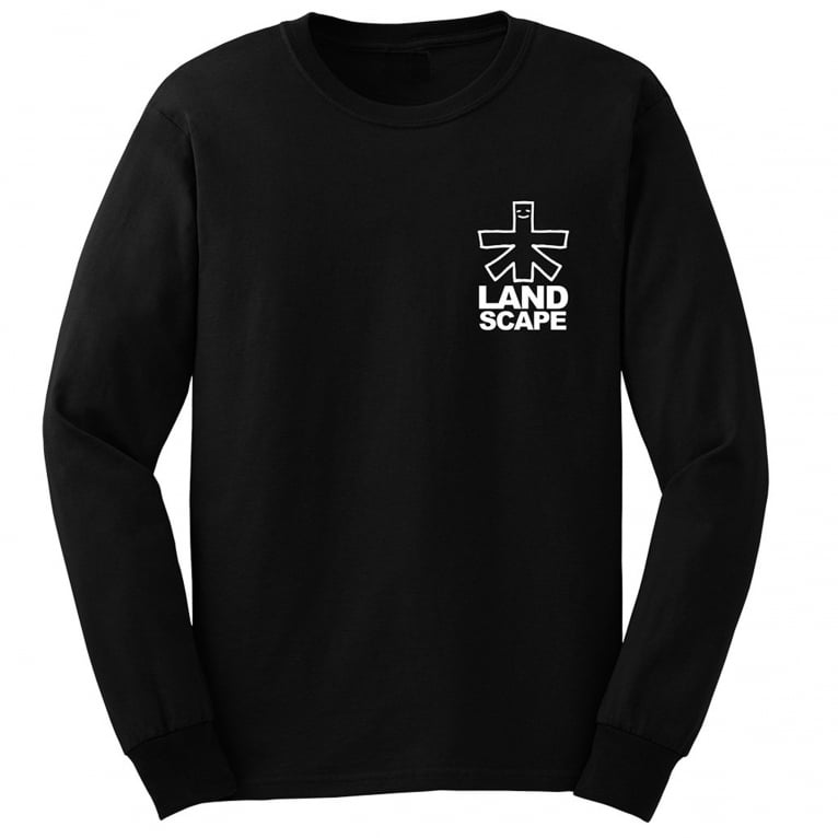 Landscape Outline Long Sleeve T-Shirt - Black