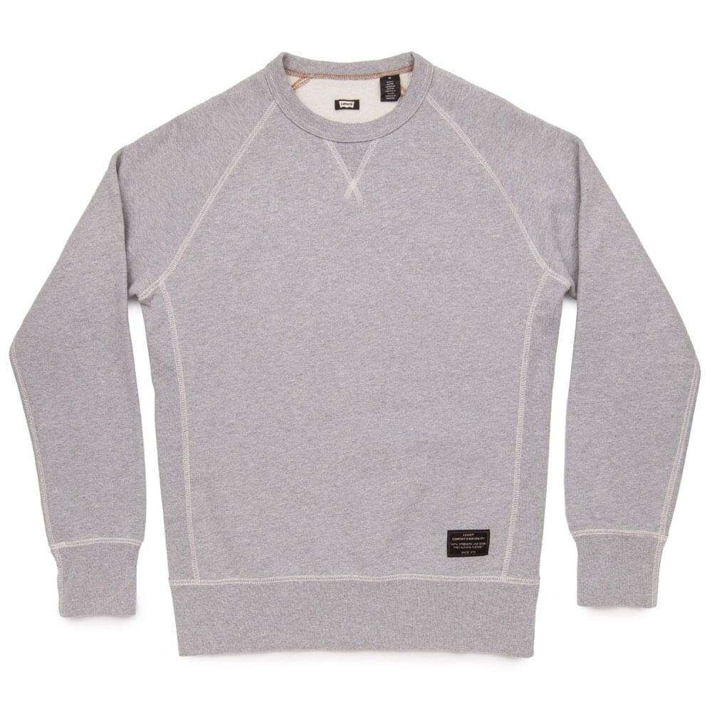 Men's Clothing Hoodies & Sweatshirts Lovely Mens Grey Levis Hoodie