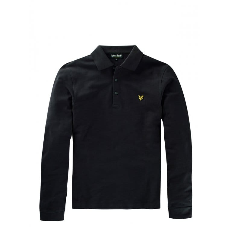 Lyle & Scott Long Sleeve Plain Polo True Black