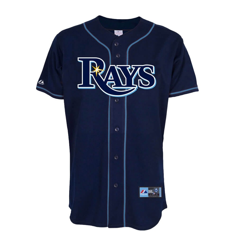 size 40 e3673 082ce Majestic Athletic Tampa Bay Rays Jersey - Navy