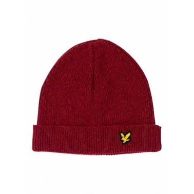 Marl Beanie Racing Red