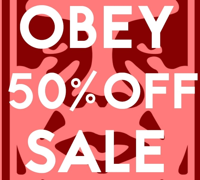 OBEY Sale Banner