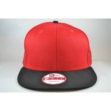 2 Tone Snap Cap - Scarlet/Black