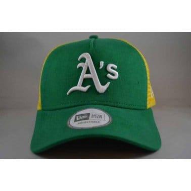 Blocked Oakland Athletics Cap - Kelly/Yellow