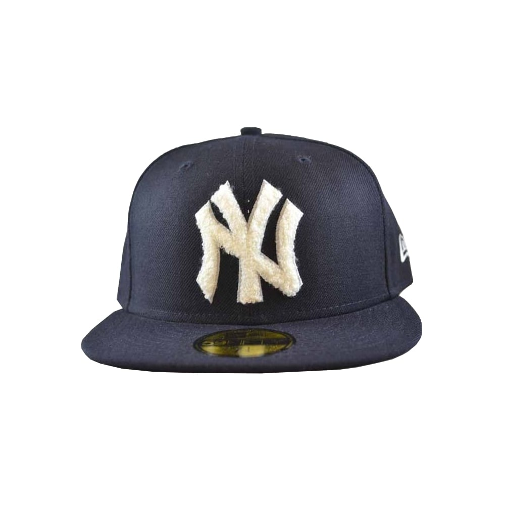 1e787e2d Chenille Applique New York Yankees Cap - Black