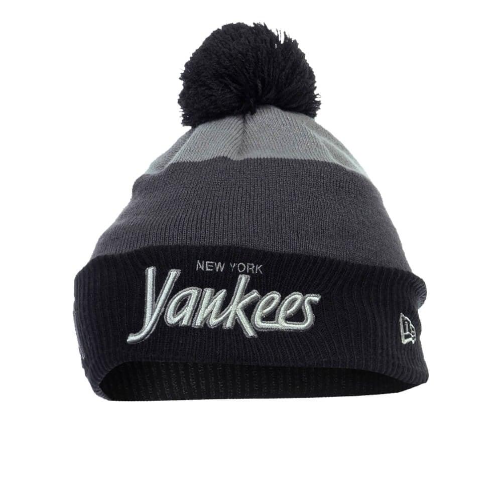 Cuff New York Yankees Beanie - Grey Black c5a191b3890