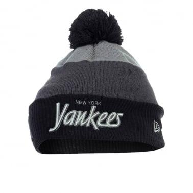 Cuff New York Yankees Beanie - Grey/Black