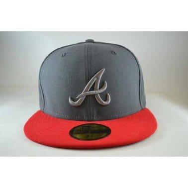 Pop Tonal Atlanta Braves Cap - Graphite/Scarlet