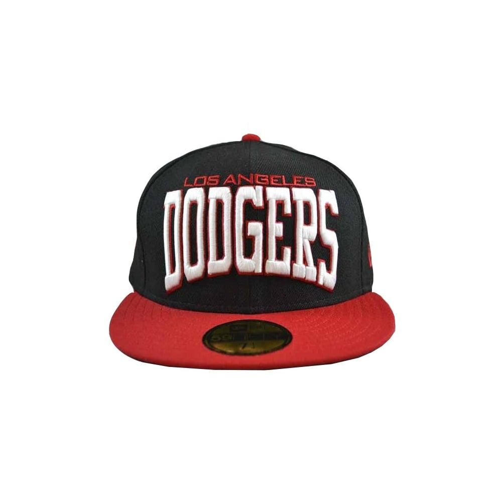 8817f1af New Era Pro Arch Los Angeles Dodgers Cap Black/Scarlet   Natterjacks