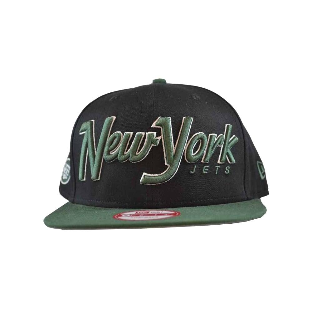 New Era Snap It Back 2 New York Jets Cap in Black Green  6c5ff57af275