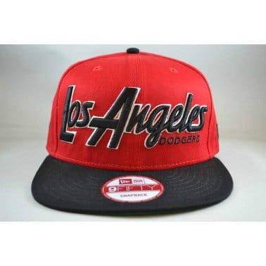 Snap It Back Los Angeles Dodgers Cap - Scarlet/Black