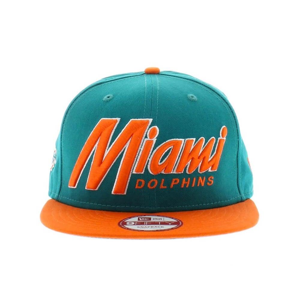 New Era Snapback 2 Miami Dolphins Teal Orange 9a05cc591d42