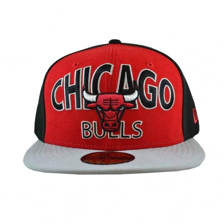 New Era Word Ark Chicago Bulls Cap in Black Red  9d2e55f1041