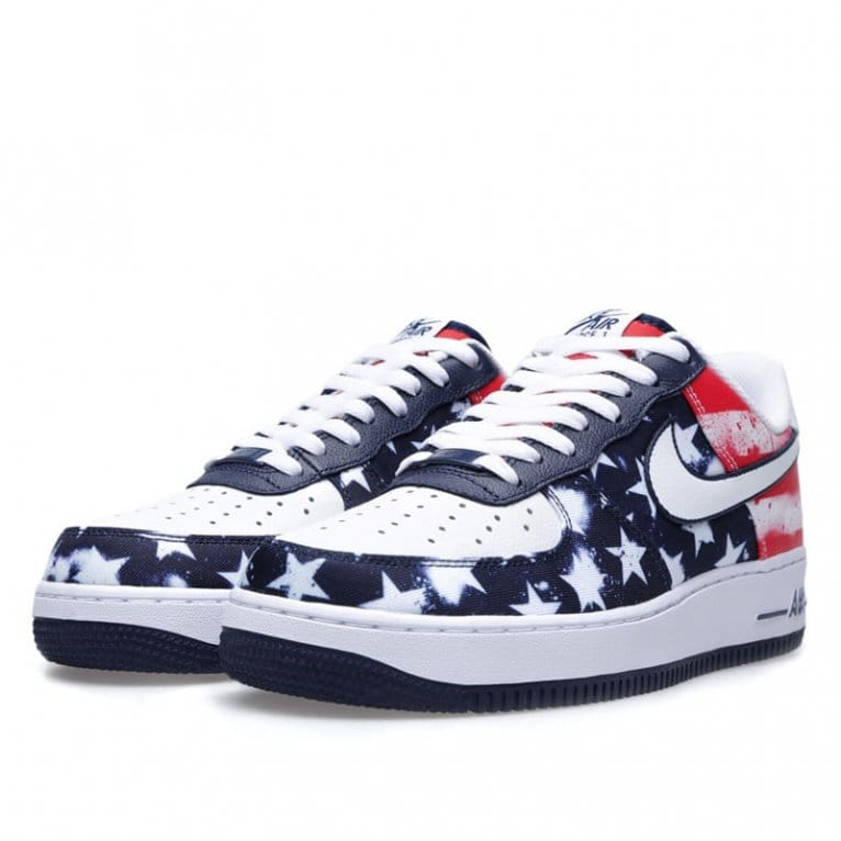nike air force red white and blue