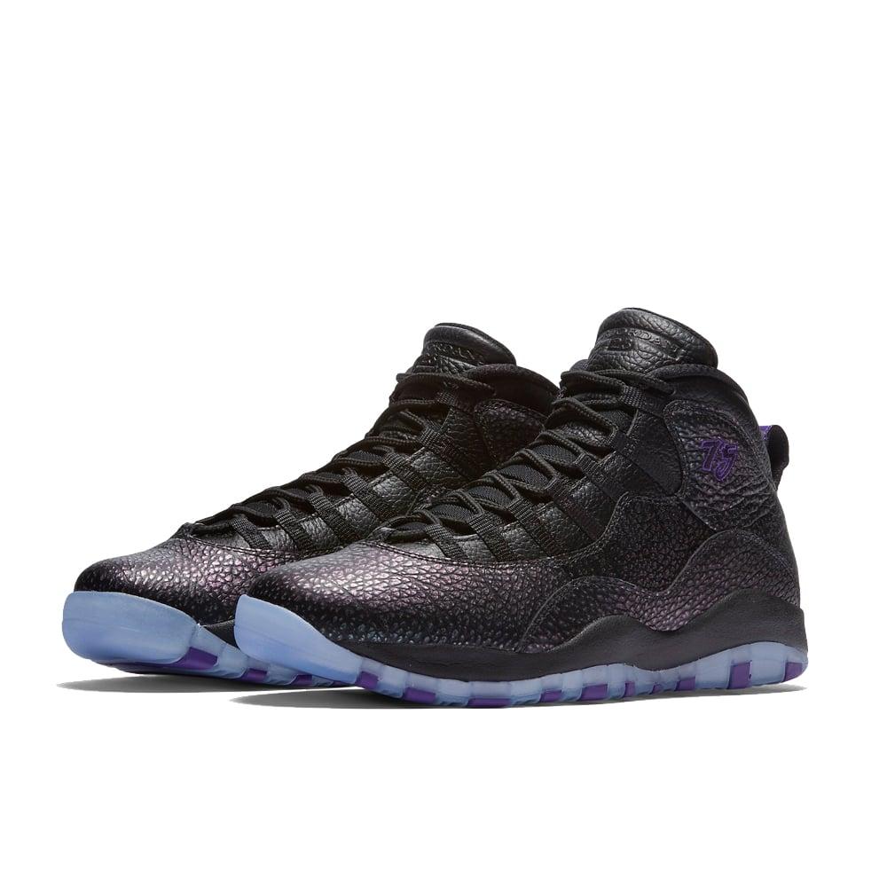 3a6c57fa418bfa Nike Air Jordan Retro 10  Paris  Black Purple