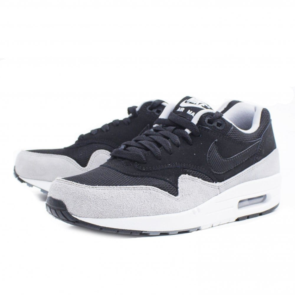 nike air max 1 essential black black silver natterjacks. Black Bedroom Furniture Sets. Home Design Ideas