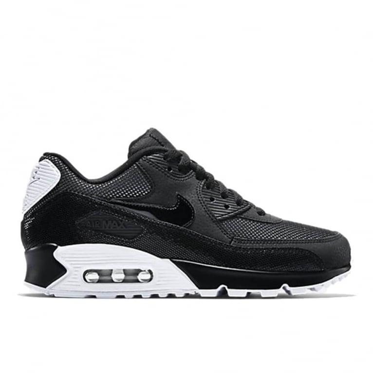 wholesale dealer 95f6c 98439 Air Max 90 Premium Womens - Black White Silver