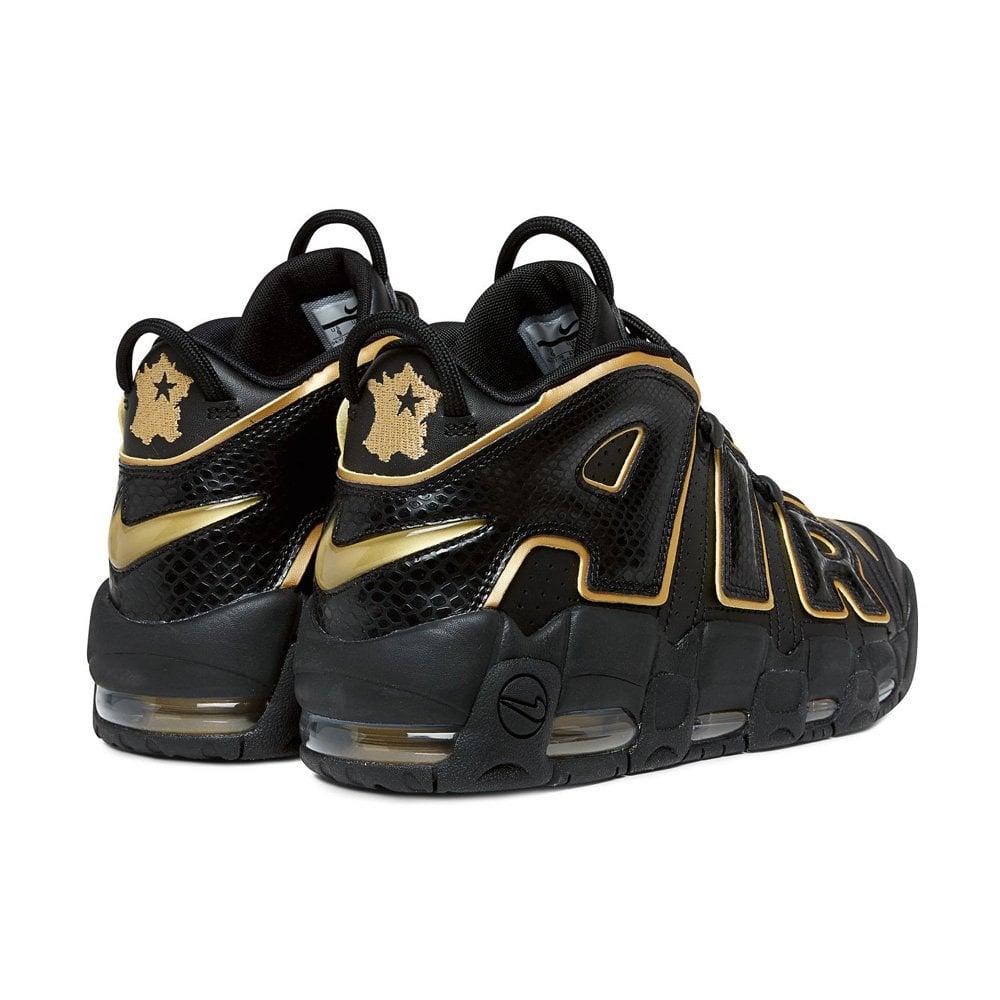 Nike Air More Uptempo 96 'France' - Black/Metallic Gold