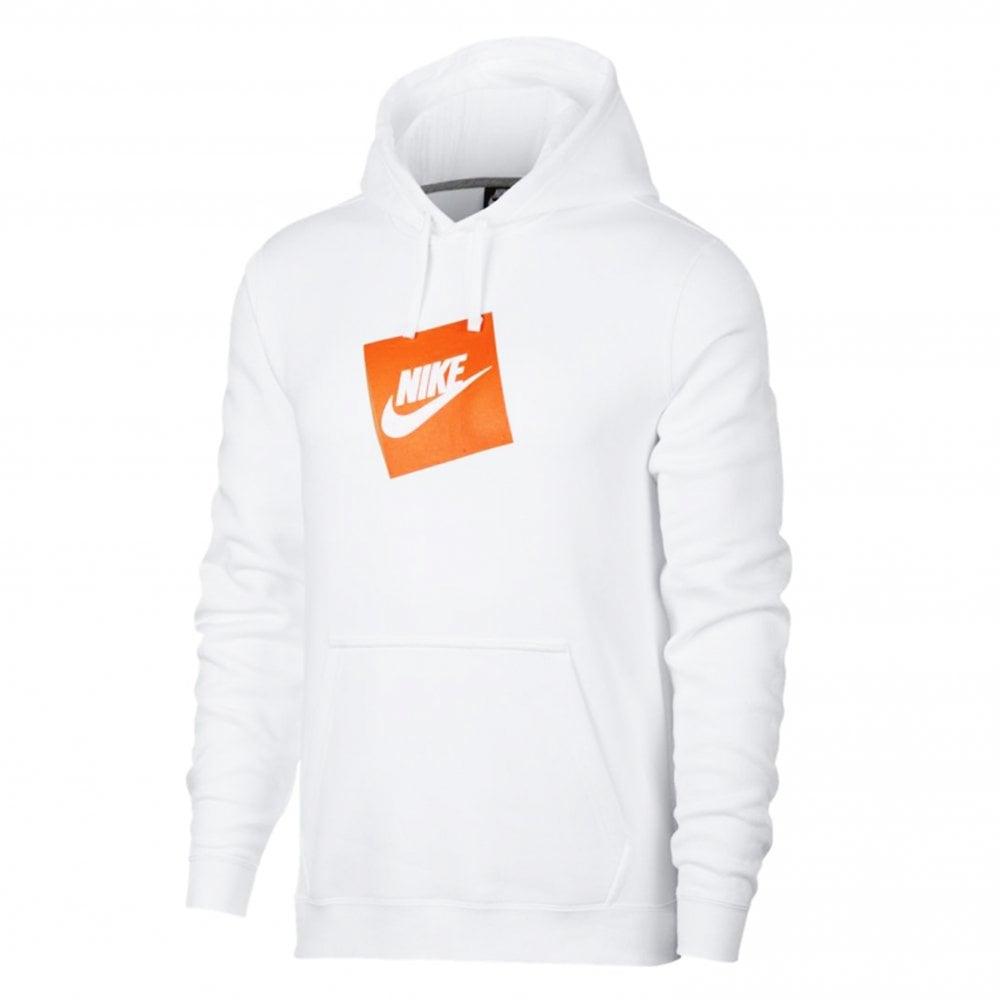 hot sales 821b4 559b6 Box Logo Hoodie - White/Orange
