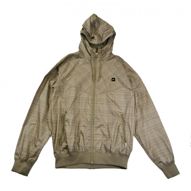 09b6c651727a Nike Check Windrunner Brown