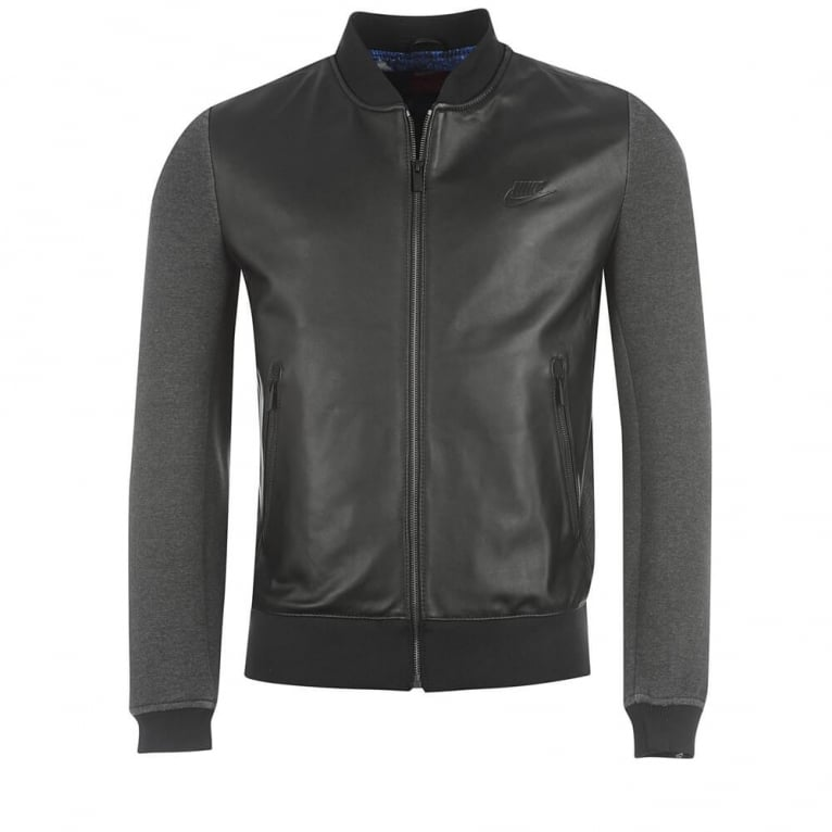 Nike CR7 Leather Jacket - Black
