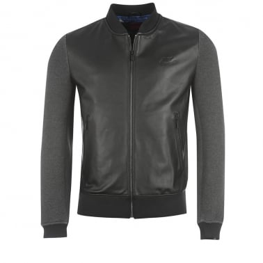 CR7 Leather Jacket - Black