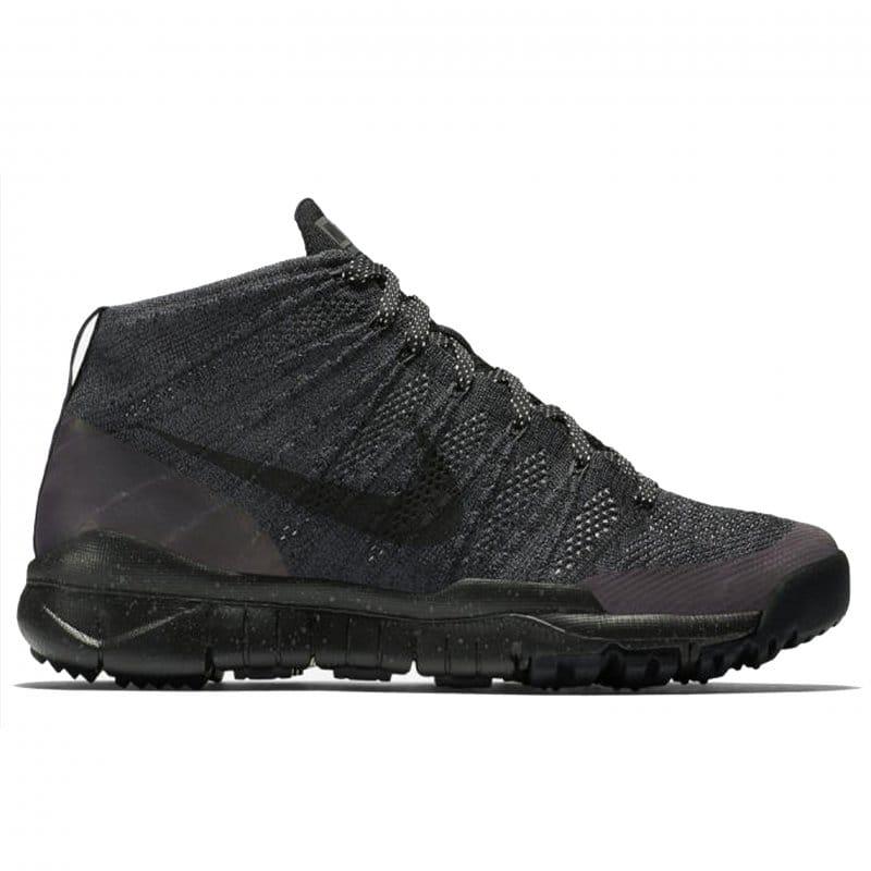 Black/Black Nike Flyknit Chukka