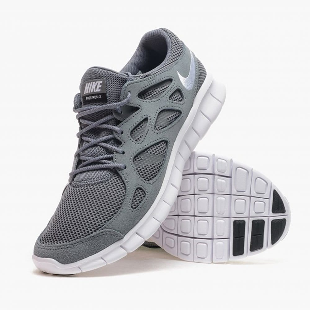 nike free run 2 grey and white. Black Bedroom Furniture Sets. Home Design Ideas
