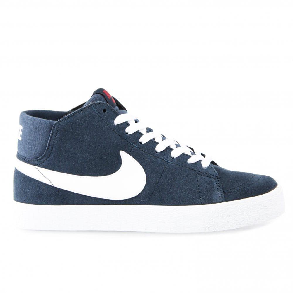 Nike SB Blazer Mid Lr Navy/White | Natterjacks