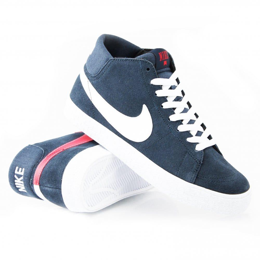 Nike Chaussures De Skate Express Blazer Mi Lr - Uni Tribunales Rouge