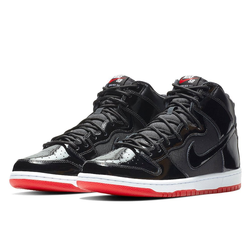 new arrival fcfa5 7c4a5 Dunk High 'Bred' - Black/Red