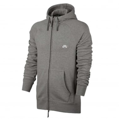 Everett Zip Hoodie - Dark Grey/White