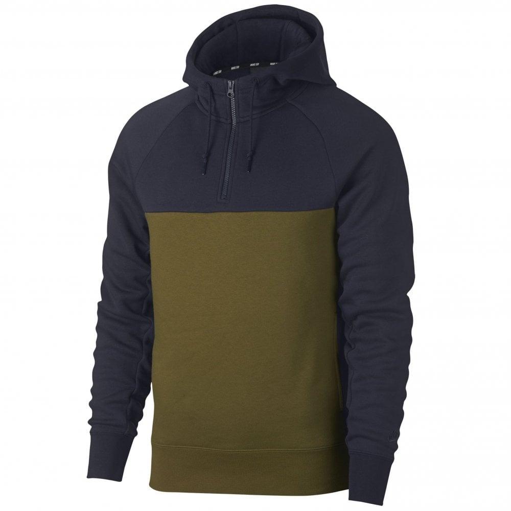 9122b27eb0a69 Nike SB Icon 1 4 Zip Hoodie