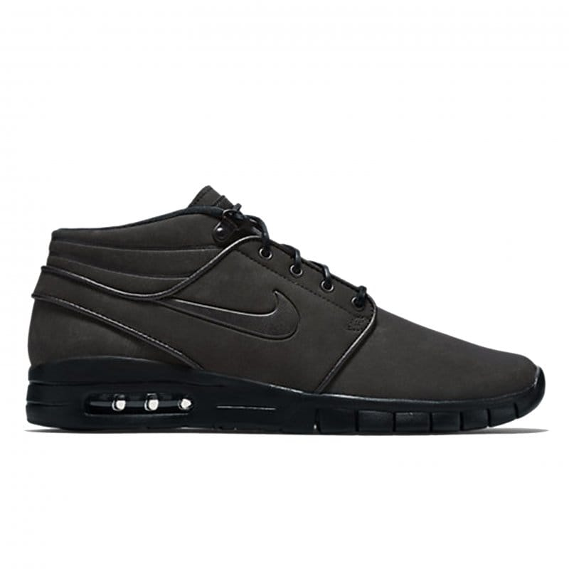 various styles huge sale lace up in Nike SB Janoski Max Mid Leather - Black/Black