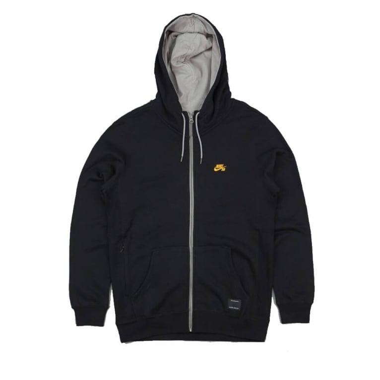 Nike SB Northrup Zip Hood Black/Yellow
