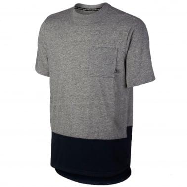 Panel Pocket T-shirt - Grey/Obsidian